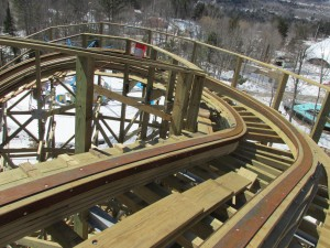 That is one mighty sharp turn after the lift hill and before the first drop!