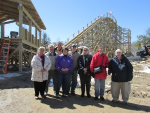 Group photo from 2nd construction tour of Roar-O-Saurus at Story Land, Glen, NH