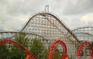 Six Flags Cyclone Roller Coaster